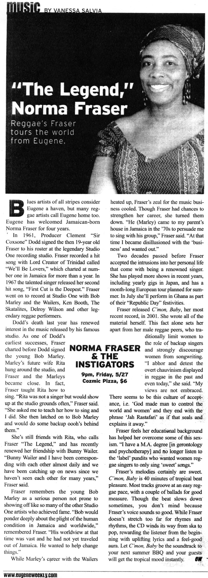 """The Legend,"" Norma Fraser"