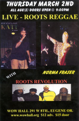 Live - Roots Reggae - Wow Hall